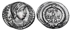 Ancient Coins - JOVIAN, 363-364 AD.  AR Siliqua.  Rare.  ex E. Harptree hoard.