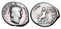 Ancient Coins - NERO, 54-68 AD.  AR Denarius.
