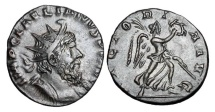 Ancient Coins - LAELIANUS, 268 AD.  Silvered ® Antoninianus.  Very Rare.
