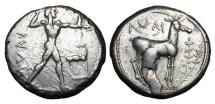 Ancient Coins - BRUTTIUM, Kaulonia.  475-425 BC.  AR Stater.
