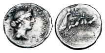 ROMAN REPUBLIC.  L. Fabius L.f. Hispanius, 82-81 BC.  AR Denarius.