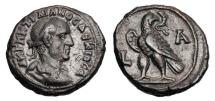 Ancient Coins - ROMAN EGYPT.  Trajan Decius, 249-251 AD.  Billon Tetradrachm.