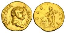 Ancient Coins - TITUS, Caesar, 69-79 AD.  Gold Aureus.