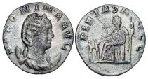 Ancient Coins - SALONINA, wife of Gallienus, 254-268 AD.  Billon Antoninianus (2.98 gm).  Draped bust / Pietas seated with two children.  RSC.84.  RIC.35.  Toned VF.
