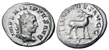 Ancient Coins - PHILIP I 244-249 AD.  AR Antoninianus.  Millennium of Rome commemorative.