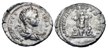 CARACALLA, 198-211 AD.  AR Denarius