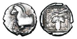 Ancient Coins - THRACE, Maroneia.  400-350 BC.  AR Persic Drachm.