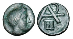 Ancient Coins - ARKADIAN LEAGUE, Megalopolis.  330-275 BC.  AE Trichalkon
