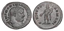 World Coins - MAXIMIANUS I HERCULIUS, 296-305 AD.    Æ Follis.