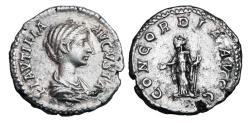 Ancient Coins - PLAUTILLA, wife of Caracalla,  died 212 AD.  AR Denarius.