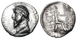 Ancient Coins - PARTHIA.  Artabanos III, 126-122 BC.  AR Drachm.  Rare.  ex PNC collection.