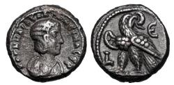 Ancient Coins - ROMAN EGYPT.  Salonina, wife of Gallienus, 253-268 AD.  Billon Tetradrachm.  ex Clain-Steffanelli collection.