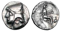 Ancient Coins - PARTHIA.  Artabanos I (Arsakes II), 211-185 BC.  AR Drachm.  Rare.  ex PNC collection.