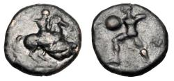Ancient Coins - THESSALY. Pelinna, 400-433 BC.  ®13.