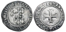 World Coins - FRANCE, Brittany.  Jean V, 1399-1442 AD. AR Blanc  …