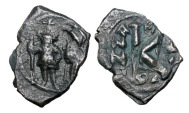 Ancient Coins - BYZANTINE EMPIRE.  Heraklios, 610-641 AD.  Æ Half Follis …