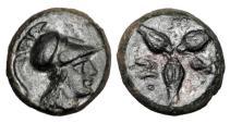 Ancient Coins - LUCANIA, Metapontion.  300-250 BC.  Æ12.  Rare.