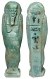 Ancient Coins - Faience Ushabti.  Egypt, XXVI Dynasty, 664-525 BC.