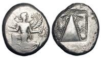 Ancient Coins - CARIA, Kaunos.  430-410 BC.  AR Stater.