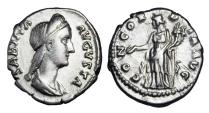 Ancient Coins - SABINA, wife of Hadrian, 117-138 AD.  AR Denarius.