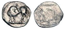 Ancient Coins - LUCANIA, Sybaris.  510-470 BC.  AR Obol.