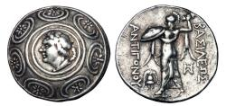 Ancient Coins - KINGDOM of MACEDON. Antigonos Gonatas, 277-239 BC.  AR Tetradrachm.