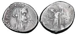 Ancient Coins - JULIUS CAESAR,  died March 15, 44 BC.  AR Denarius.