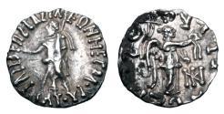 Ancient Coins - INDO-SCYTHIANS.  Maues, 90-57 BC.  AR Drachm.  ex PNC collection.