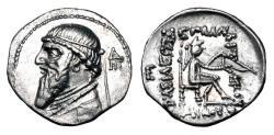Ancient Coins - PARTHIA.  Mithradates II, 121-91 BC.  AR Drachm.  ex PNC collection.
