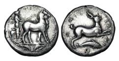 Ancient Coins - SICILY, Messana.  420-413 BC.  AR Tetradrachm.