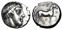 Ancient Coins - MACEDON Kingdom.  Archelaos, 413-399 BC.  AR Stater.