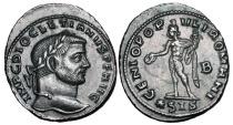 Ancient Coins - DIOCLETIAN, 285-305 AD.  Silvered Æ Follis