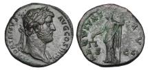 Ancient Coins - HADRIAN, 117-138 AD.  Æ Sestertius.  ex Hoffman collection.