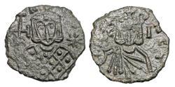 Ancient Coins - BYZANTINE EMPIRE.  Leo V, 813-820 AD.  Æ Follis.