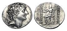 Ancient Coins - SELEUKID KINGDOM. Alexander II Zebinas, 128-123 BC.  AR Tetradrachm