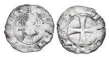 Ancient Coins - ANTIOCH.  Bohemund III, Minority, 1149-1201 AD.  AR Denier.