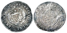 World Coins - ENGLAND.  Henry VII, 1485-1509 AD.  AR Groat, i. m. Cross crosslet, of London.