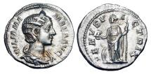 Ancient Coins - JULIA MAMAEA, mother of Severus Alexander, d. 235 AD.  AR Denarius.