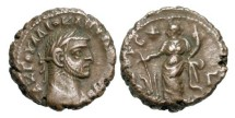 Ancient Coins - ROMAN EGYPT.  Diocletian, 285-305 AD.  Potin Tetradrachm (6.45 gm), yr. 3 (287/8).  Laureate cuirassed bust / Tyche standing holding rudder   …