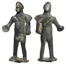 Ancient Coins - Celtiberian Male Figurine.  Celtic Spain, 300-50 BC.