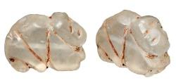 Ancient Coins - Crystal Rabbit Amulet.  Western Asiatic, III-II Millennium BC.