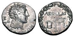 Ancient Coins - MACEDON under the Romans.  Aesillas, quaestor, 93-92 BC.  AR Tetradrachm.