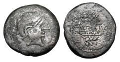 Ancient Coins - SPAIN, Carmo (Seville).  80-50 BC.  Æ As.