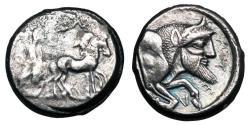 Ancient Coins - SICILY, Gela.   480-475 BC.  AR Tetradrachm.
