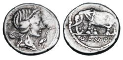 Ancient Coins - ROMAN REPUBLIC.  Q. Caecilius Metellus Pius as Imperator, 81 BC.  AR Denarius.