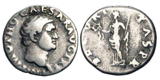 Ancient Coins - OTHO, Jan-Apr 69 AD.  AR Denarius (3.29 gm).  Bare head / Securitas standing with wreath and sceptre.  RIC.8(R2).   Toned aVF  Rare.