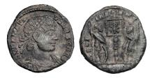 Ancient Coins - DELMATIUS, 335-337.  Æ Reduced Follis.  Very Rare,