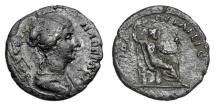 Ancient Coins - TROAS, Ilium (Troy).  Faustina II, wife of Marcus Aurelius, died 176 AD.  AE24.  Rare.