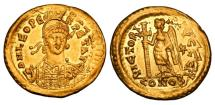 Ancient Coins - LEO I, 457-474 AD.  Gold Solidus.  Rare.