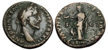 Ancient Coins - ANTONINUS PIUS, 138-161 AD.  AE As